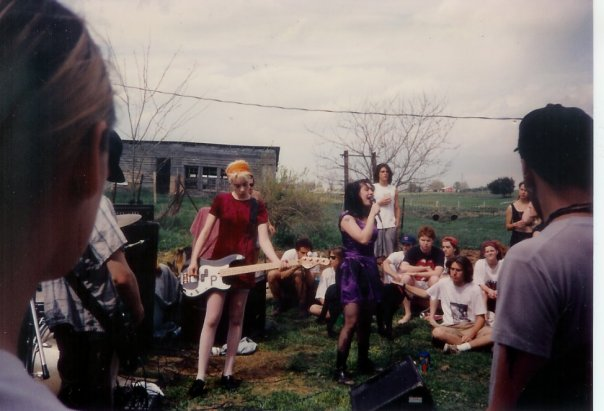 I saw Bikini Kill at a farm in Virginia somewhere.
